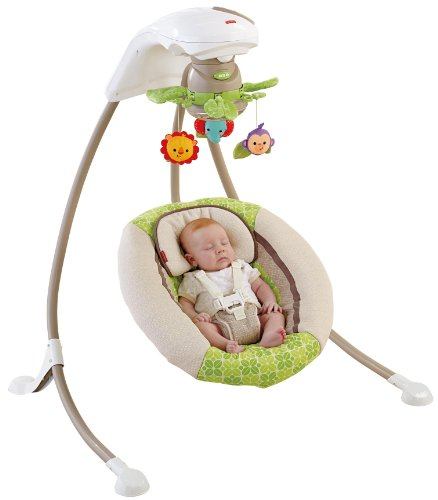 Fisher Price Tag Deluxe Cradle N Swing Rainforest Close Friends